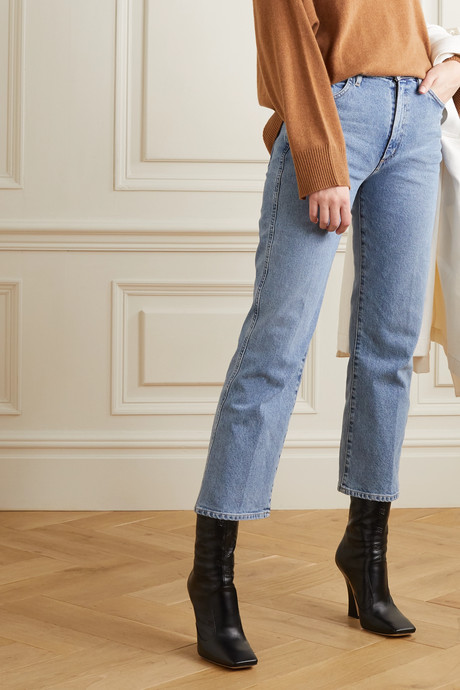 + NET SUSTAIN The Cropped A high-rise straight-leg jeans