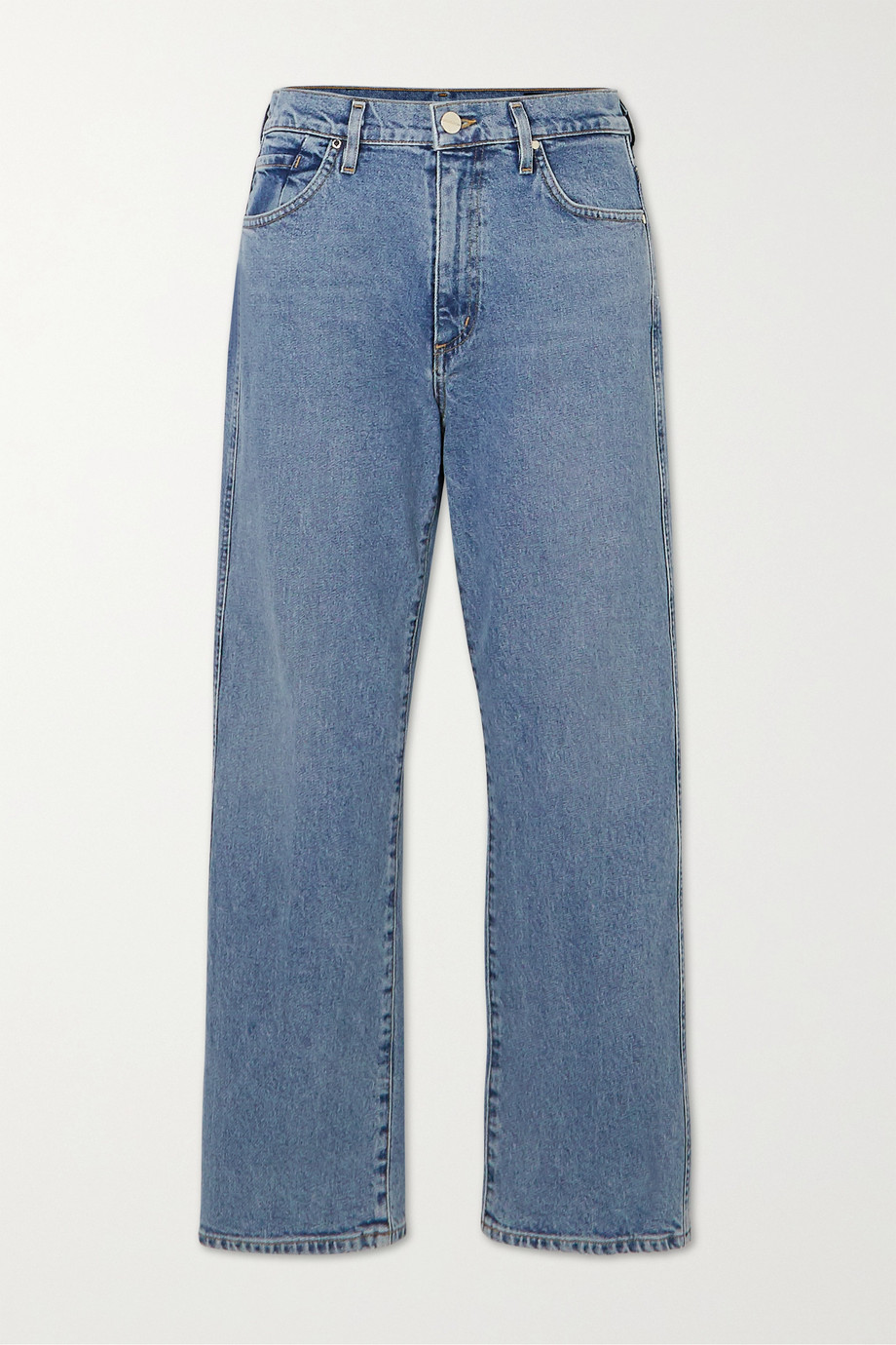 GOLDSIGN + NET SUSTAIN The Cropped A high-rise straight-leg jeans