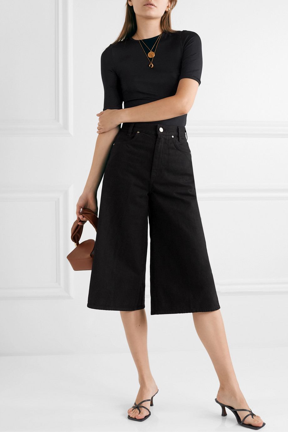 GOLDSIGN + NET SUSTAIN denim culottes