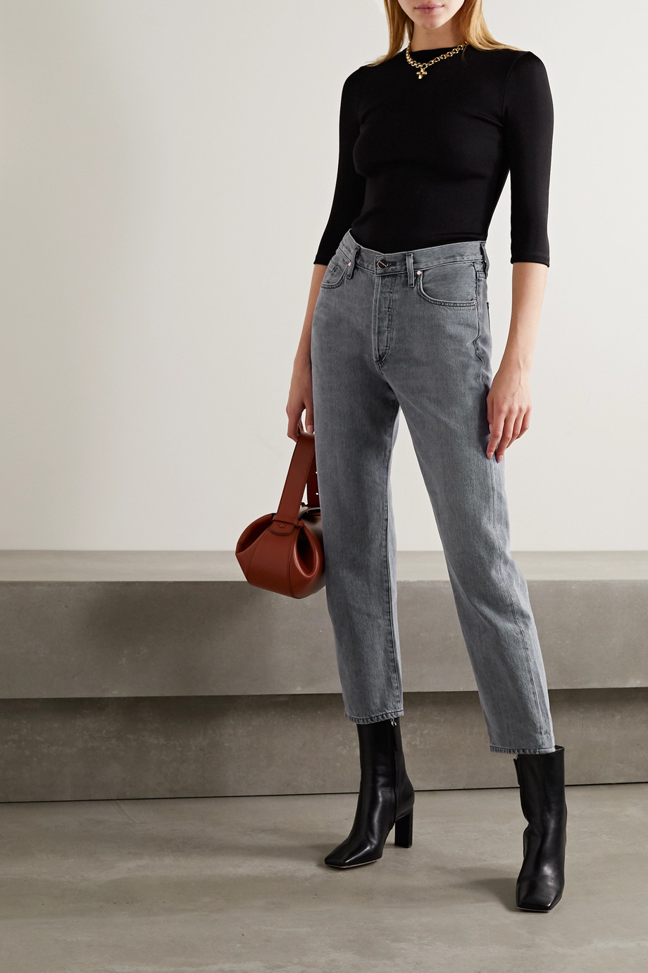 GOLDSIGN + NET SUSTAIN The Relaxed Straight mid-rise straight-leg jeans