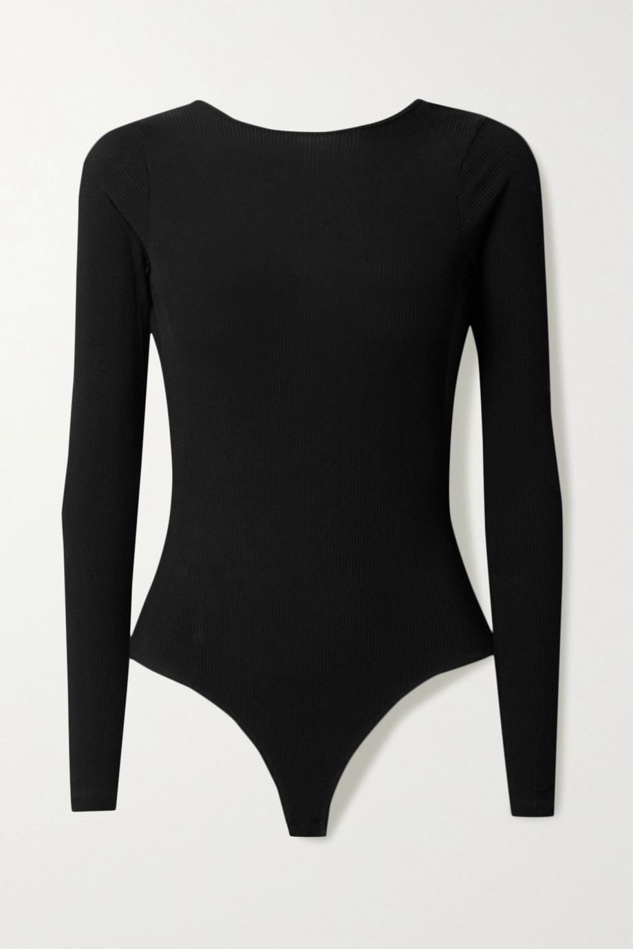 GOLDSIGN + NET SUSTAIN open-back ribbed stretch-jersey bodysuit