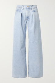 + NET SUSTAIN pleated high-rise wide-leg jeans