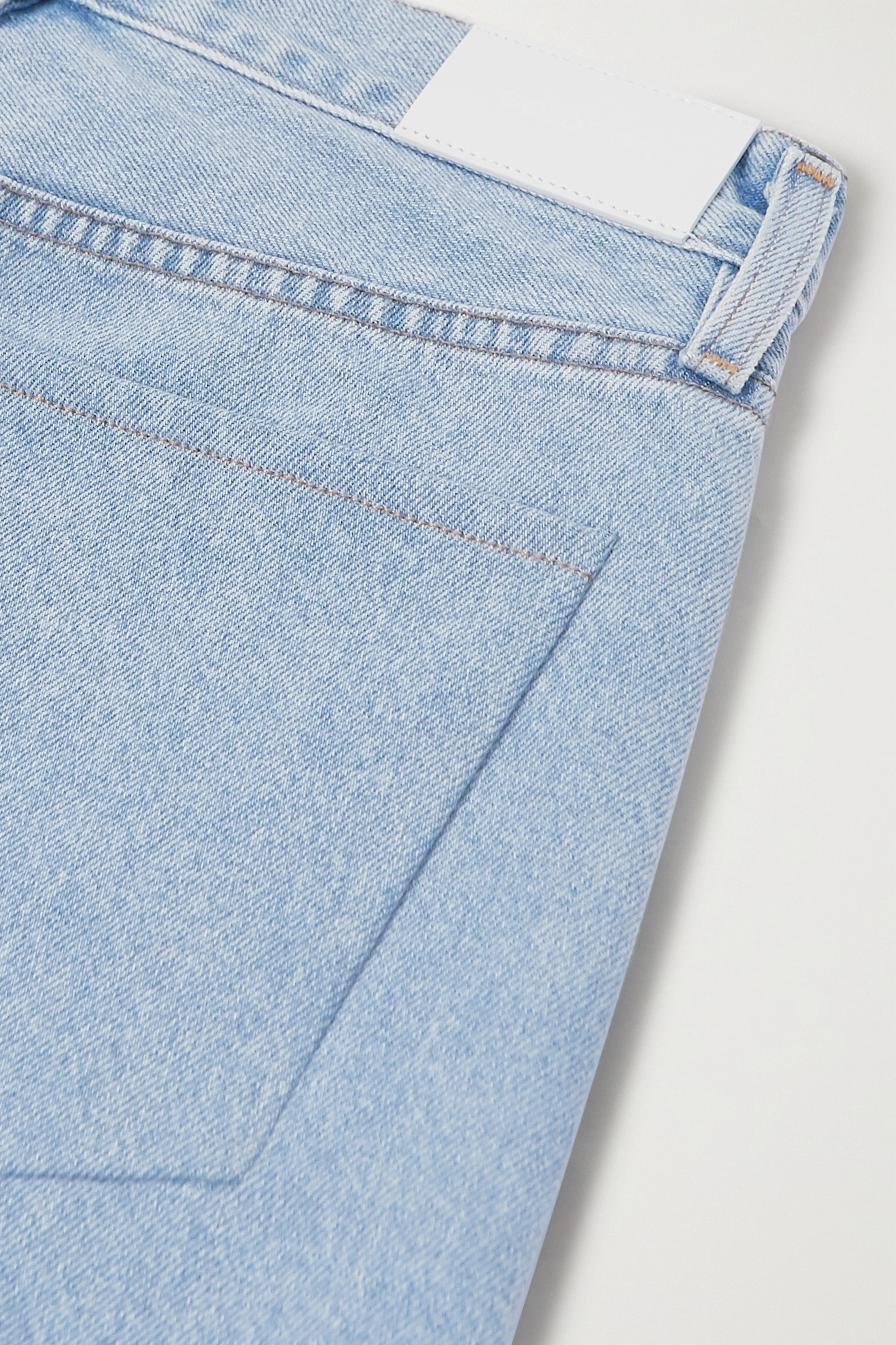 GOLDSIGN + NET SUSTAIN The Low Slung cropped mid-rise straight-leg jeans