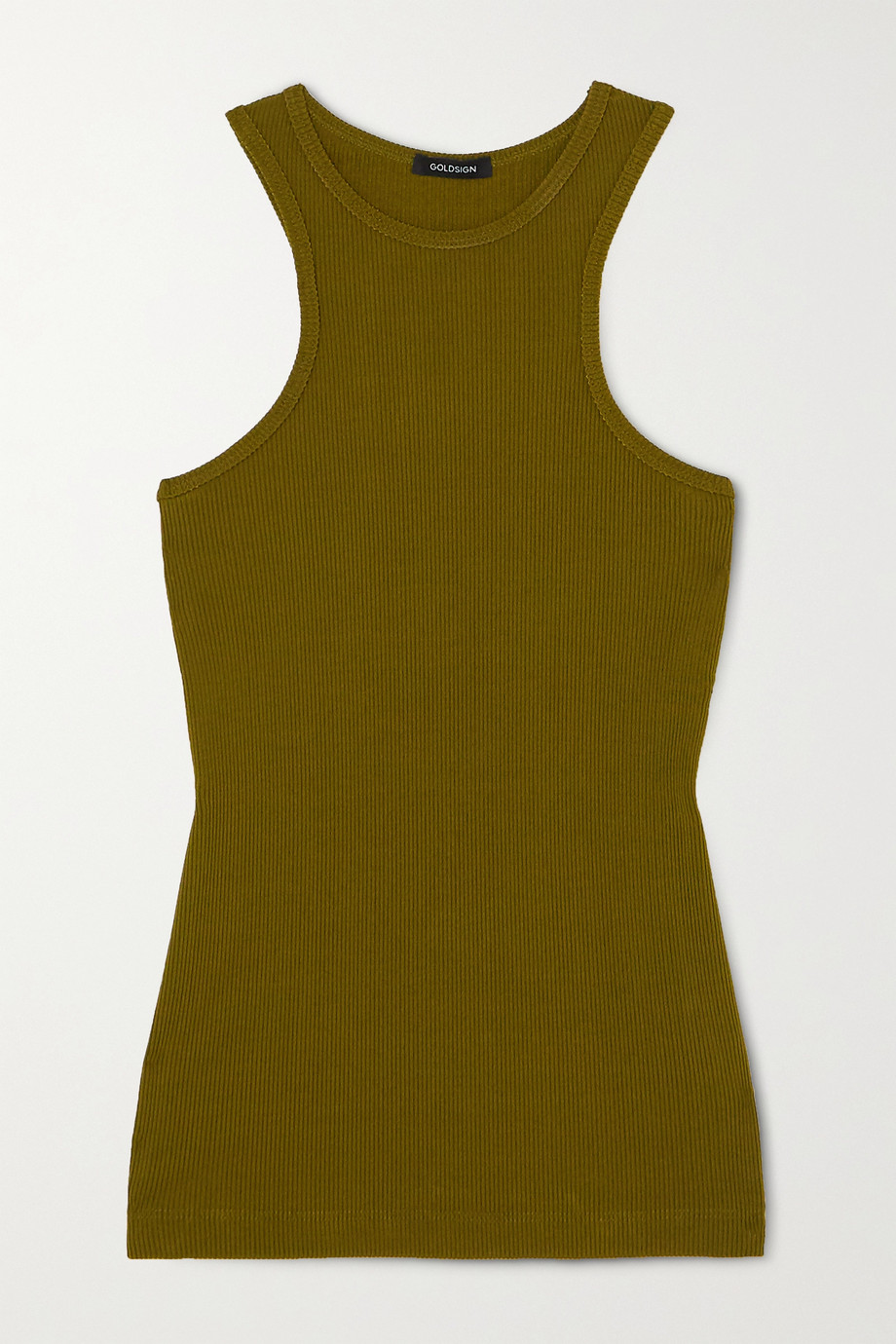 GOLDSIGN + NET SUSTAIN ribbed-knit tank