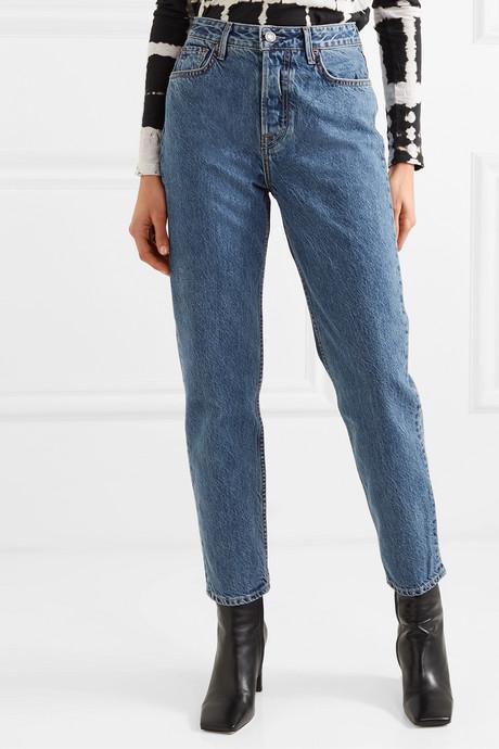Devon organic high-rise straight-leg jeans