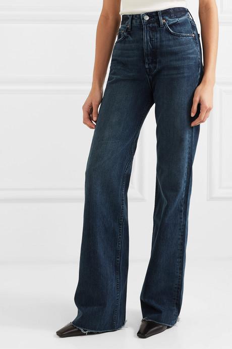 Carla high-rise wide-leg jeans