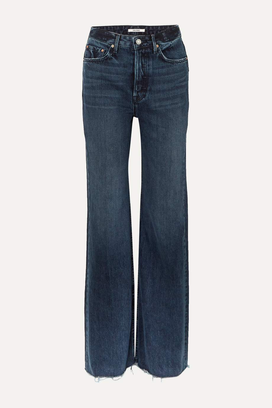 GRLFRND Carla high-rise wide-leg jeans