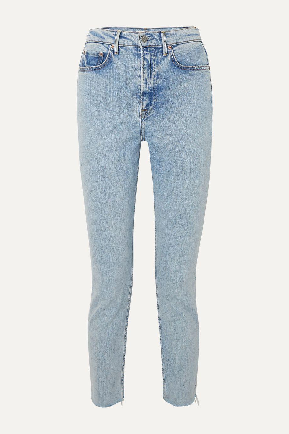 GRLFRND Karolina frayed high-rise slim-leg jeans