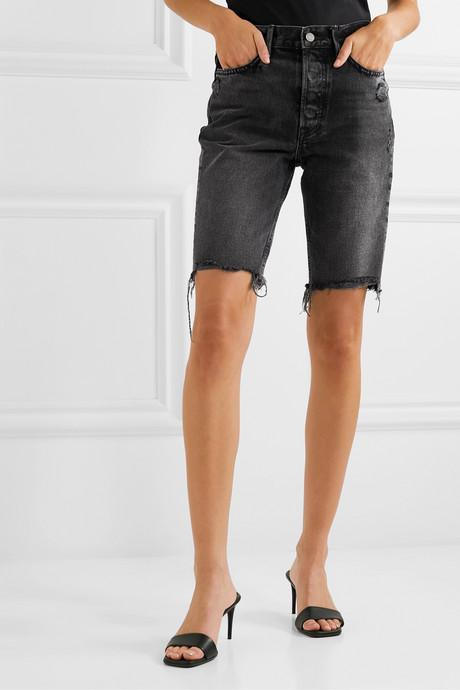 Beverly distressed denim shorts