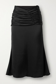 Orseund Iris Romantique ruched satin skirt