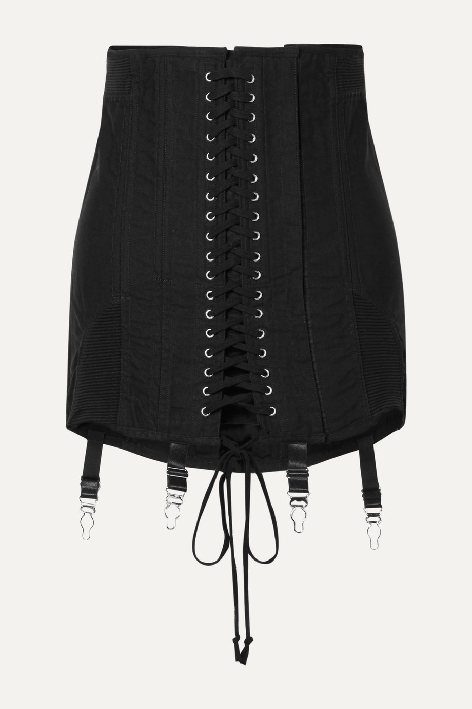 Orseund Iris Gamine lace-up cotton-twill mini skirt