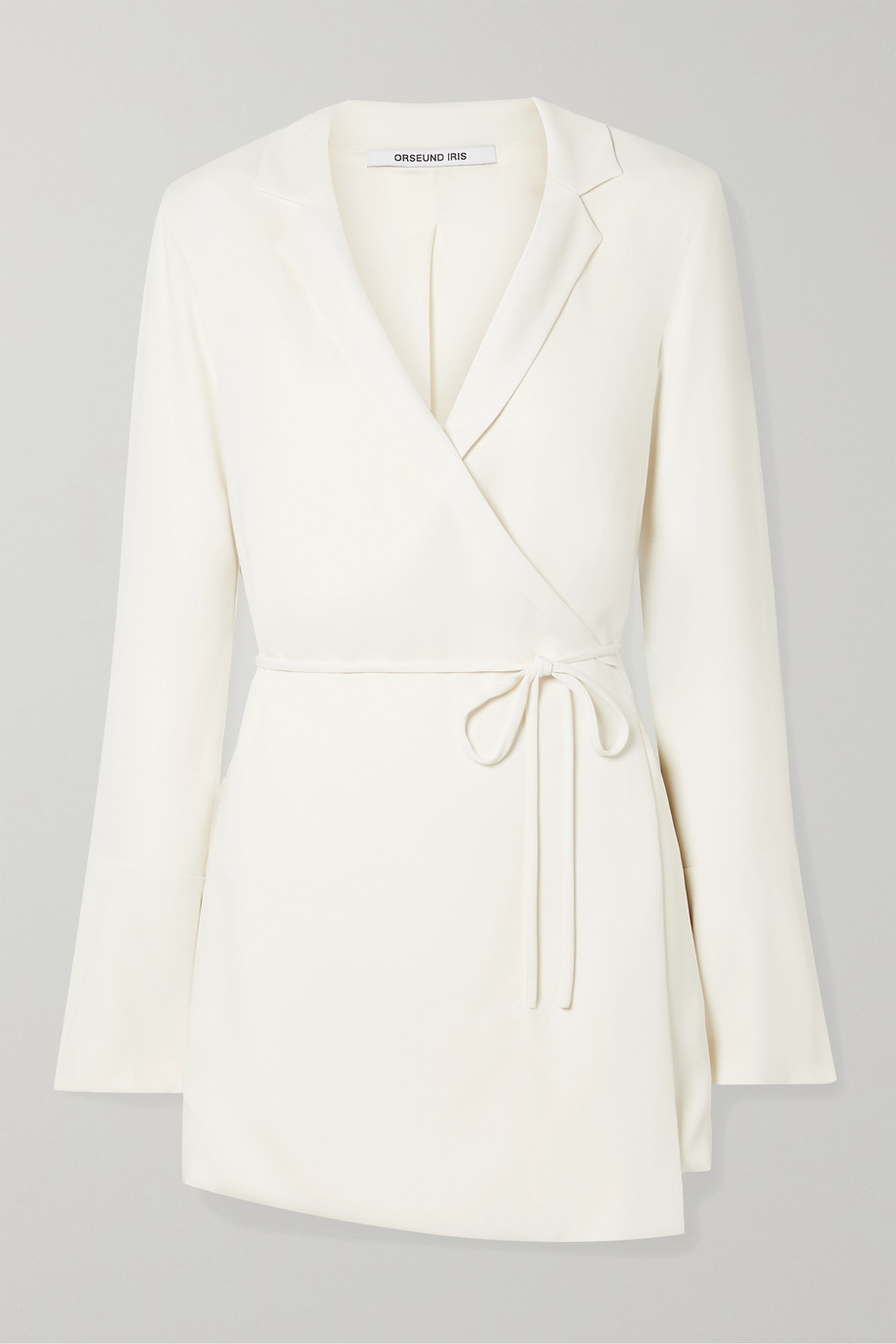 Orseund Iris Mini-robe portefeuille en crêpe Boxy