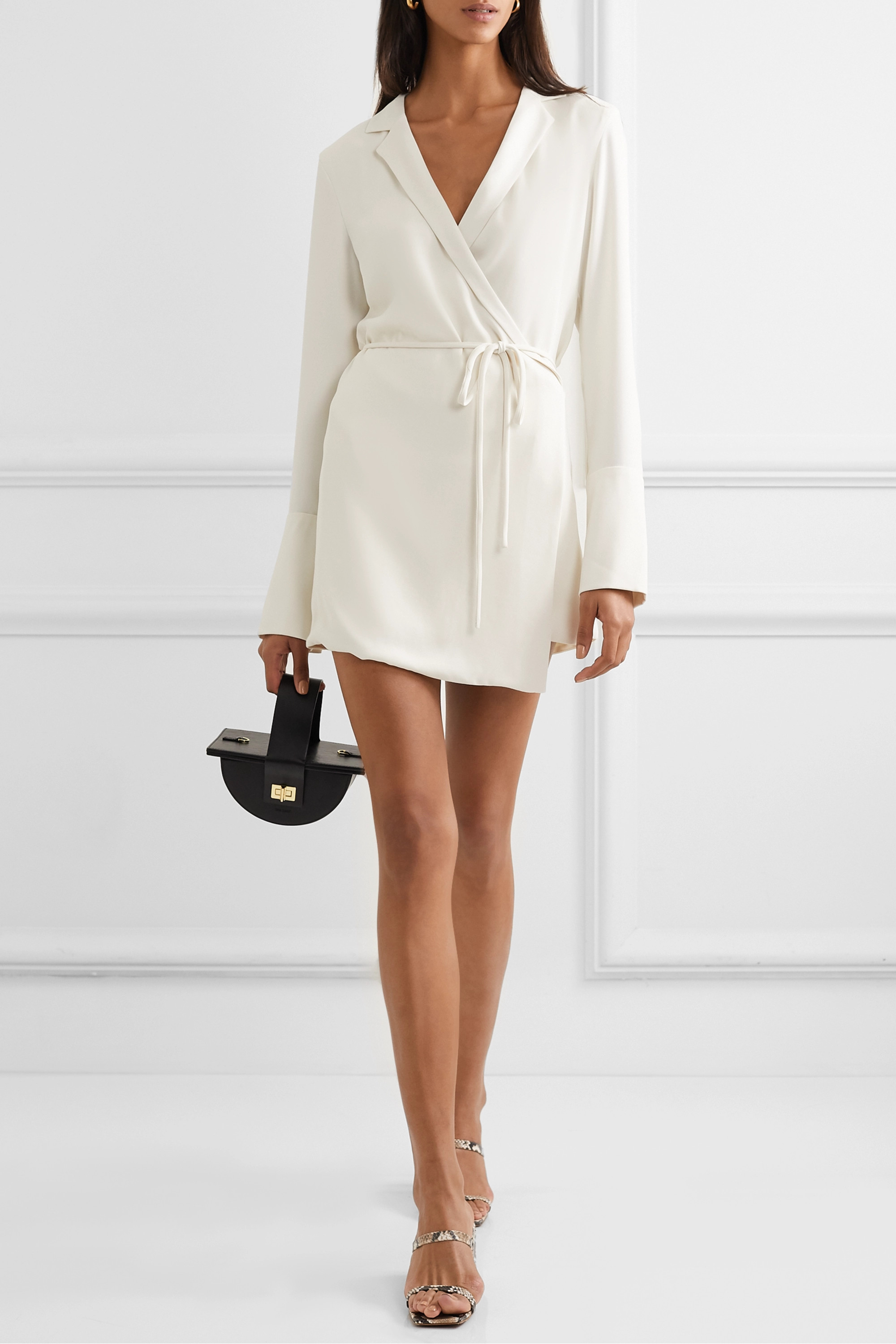 Orseund Iris Boxy crepe wrap mini dress