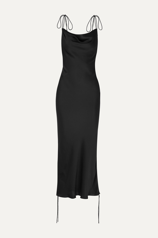 Black Ruched satin dress | Orseund Iris | NET-A-PORTER