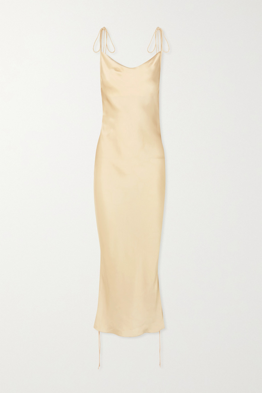 Orseund Iris 褶饰缎布连衣裙