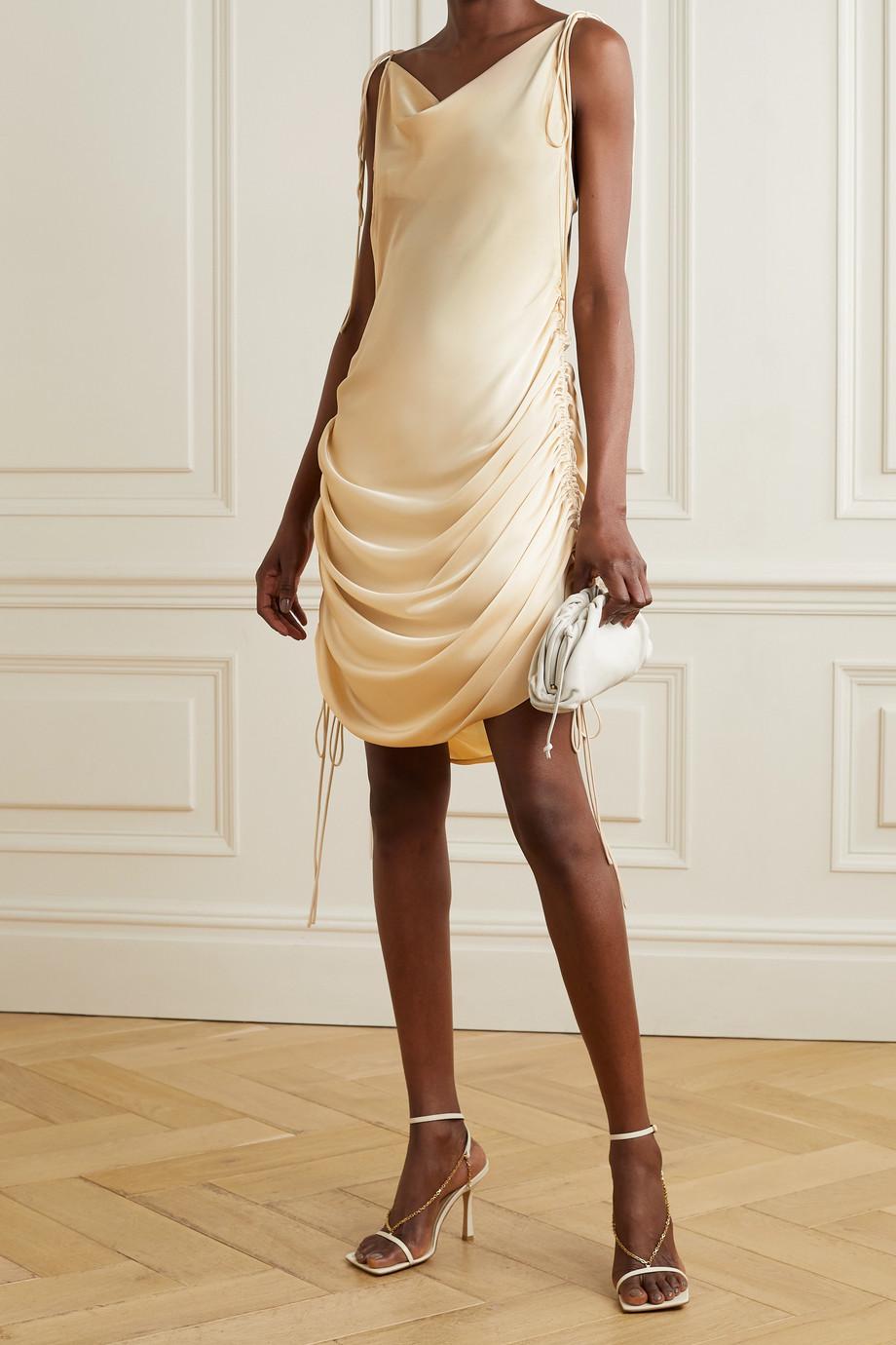 Orseund Iris Ruched satin dress