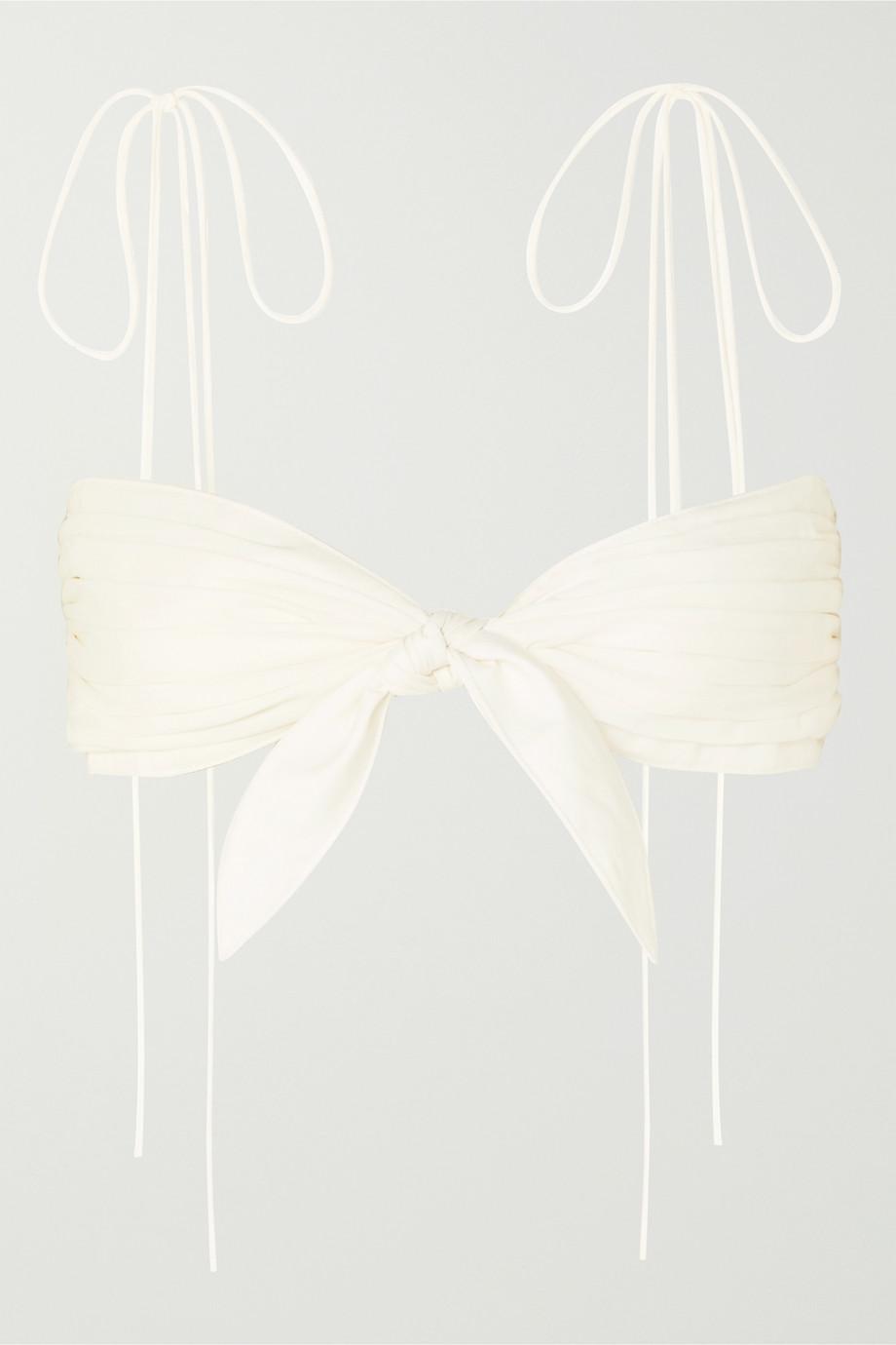 Orseund Iris Haut soutien-gorge en popeline de coton à plis Cha Cha