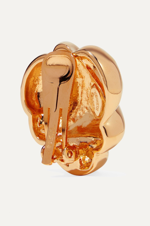 Kenneth Jay Lane Gold-tone clip earrings