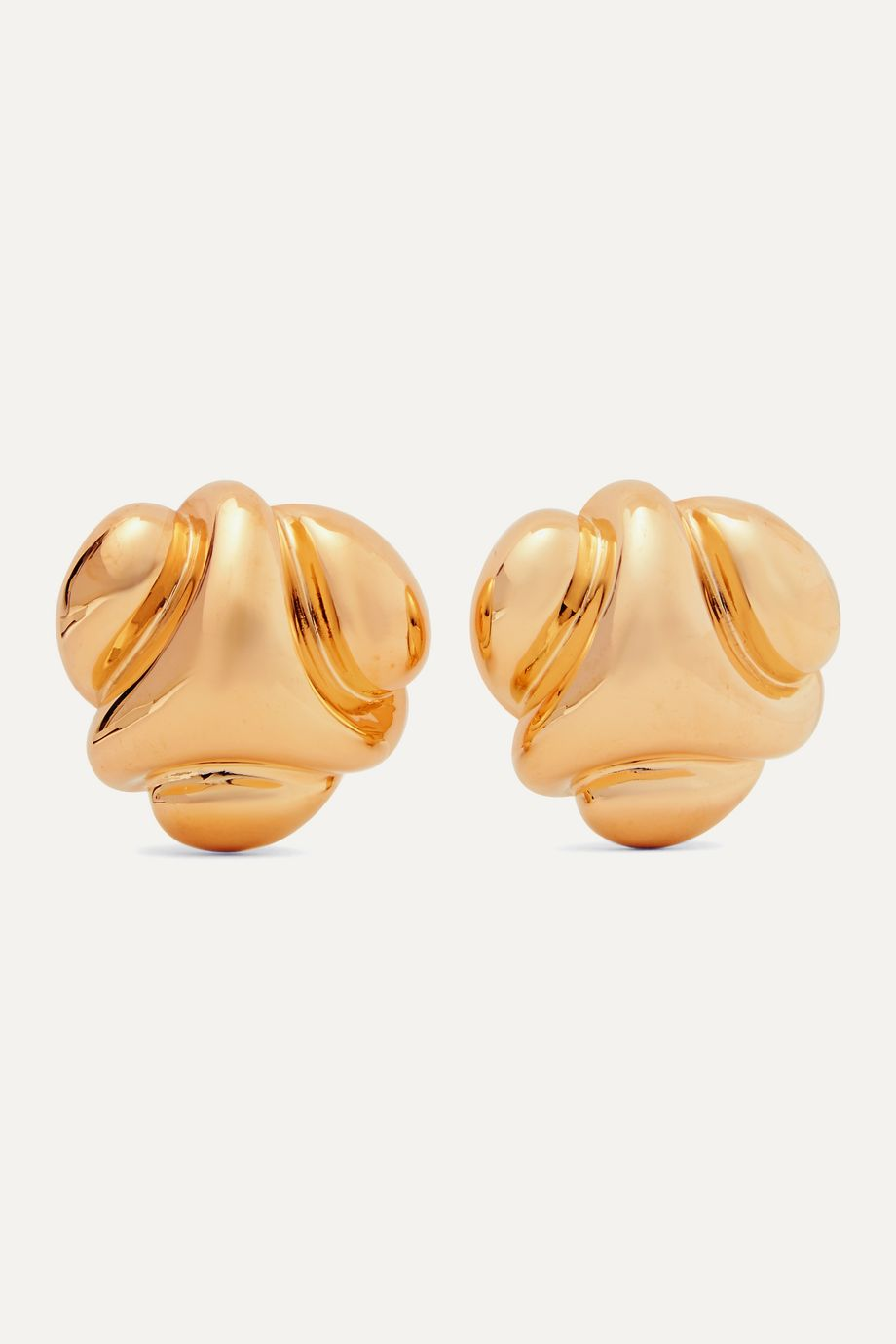 Kenneth Jay Lane Gold-tone clip earrings
