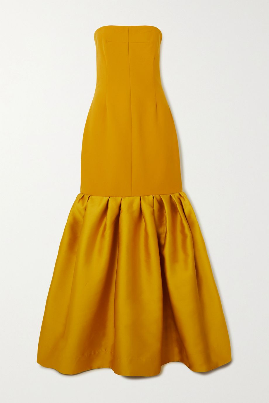 Solace London Ari strapless ruffled crepe and satin gown