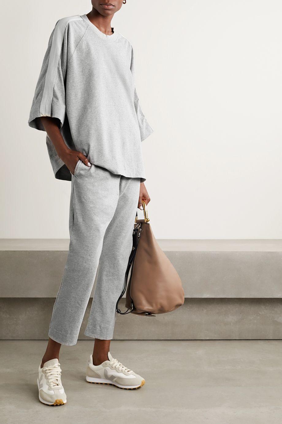 Bassike + NET SUSTAIN organic cotton-jersey track pants