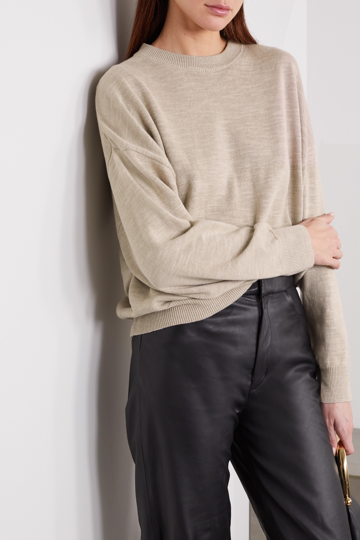 Bassike 大廓形亚麻棉质混纺毛衣