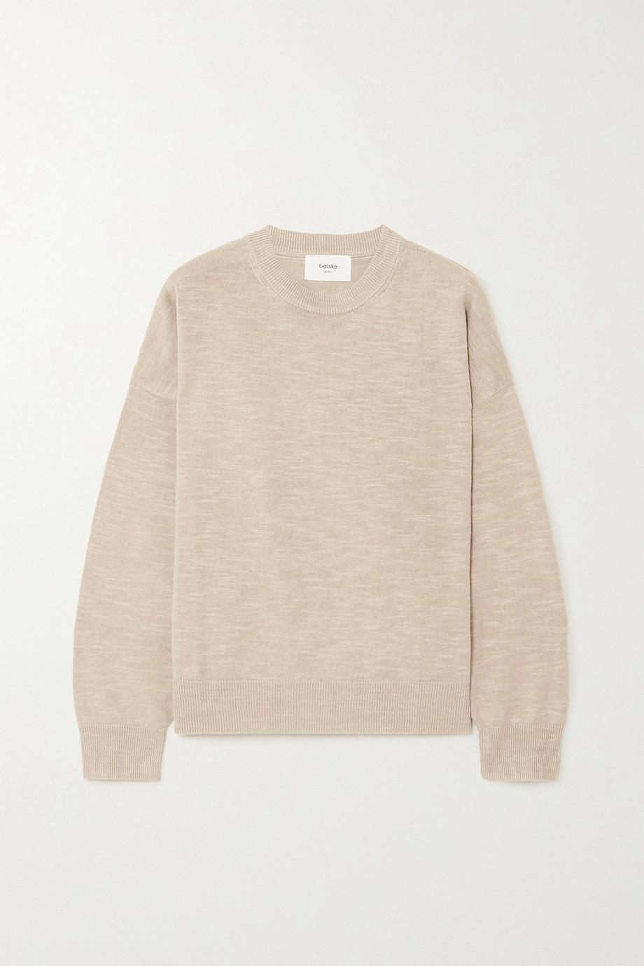 Bassike Oversized-Pullover aus einer Leinen-Baumwollmischung