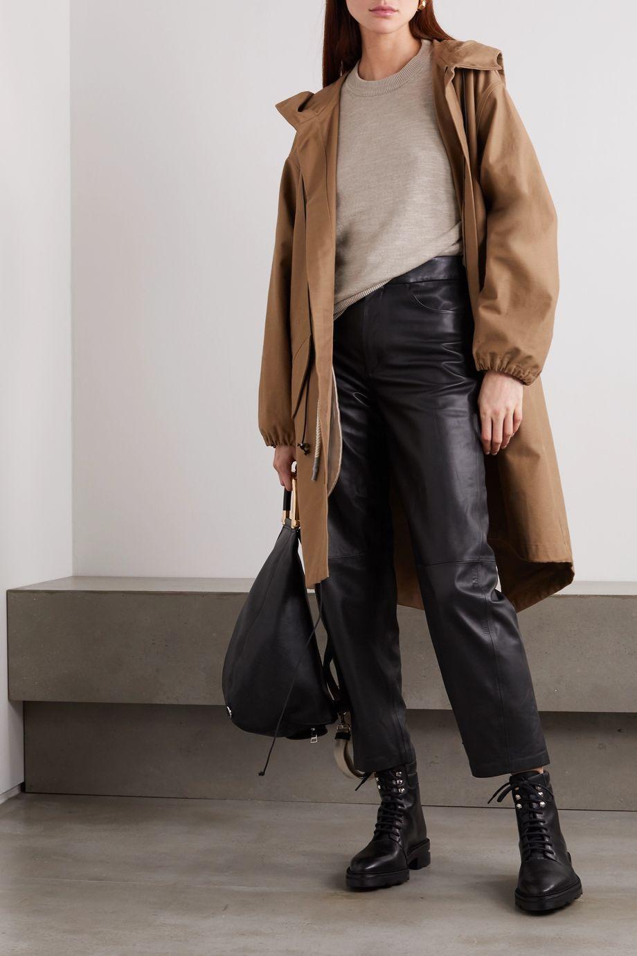 Bassike Hooded cotton-gabardine jacket