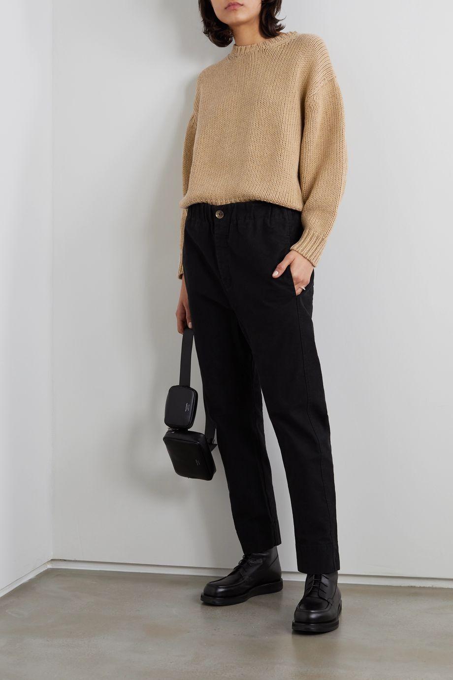 Bassike Cotton and merino wool-blend sweater