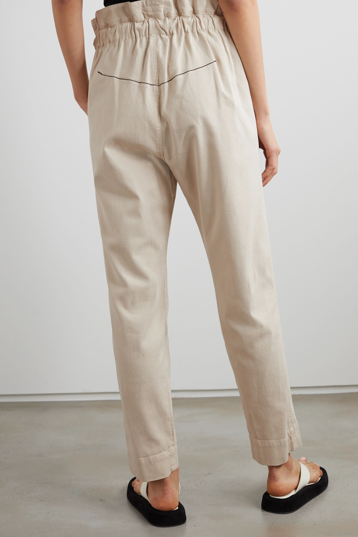 Bassike Dobby cotton-blend corduroy track pants