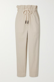 Bassike Dobby cotton-blend corduroy track pants