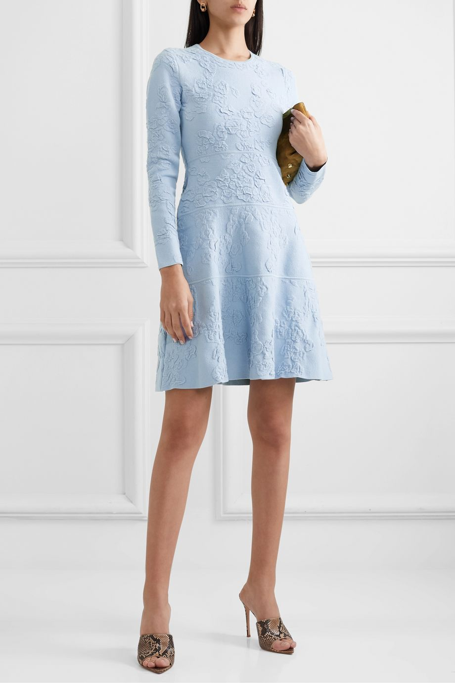 Lela Rose Textured-knit dress