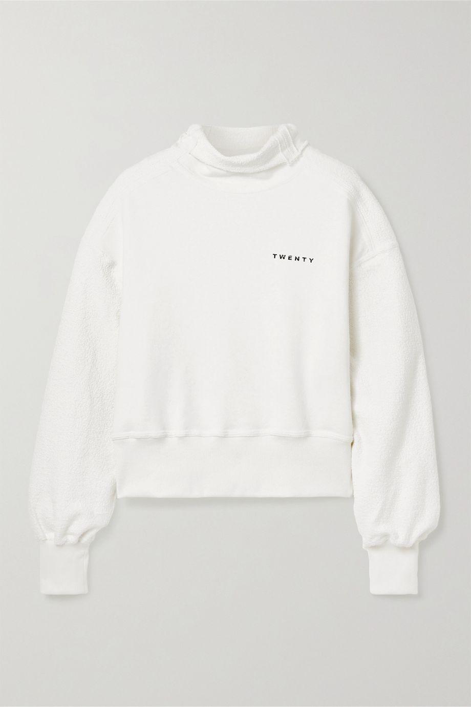 TWENTY Montréal Sunnyside printed cotton-blend terry sweatshirt