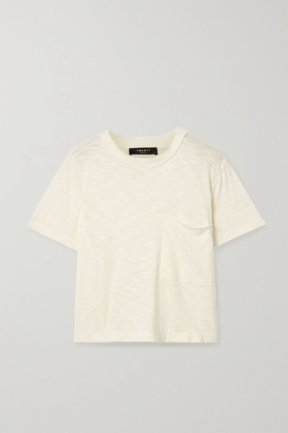 TWENTY Montréal Brooks cropped slub jersey T-shirt