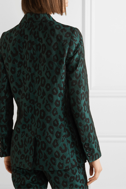 Anine Bing Blazer à double boutonnage en jacquard léopard Madeleine
