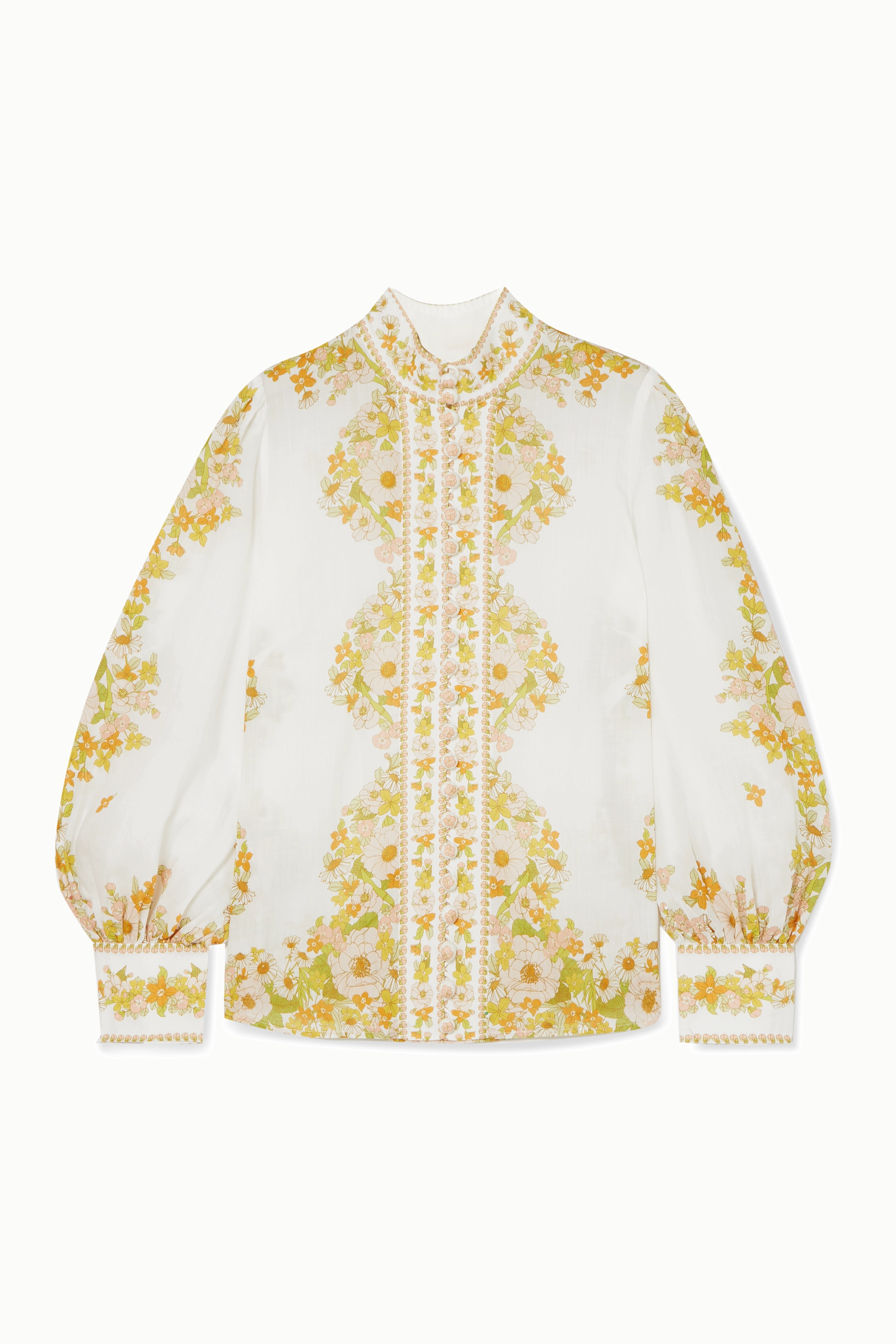 Zimmermann Super Eight Bluse aus Ramie mit Blumenprint