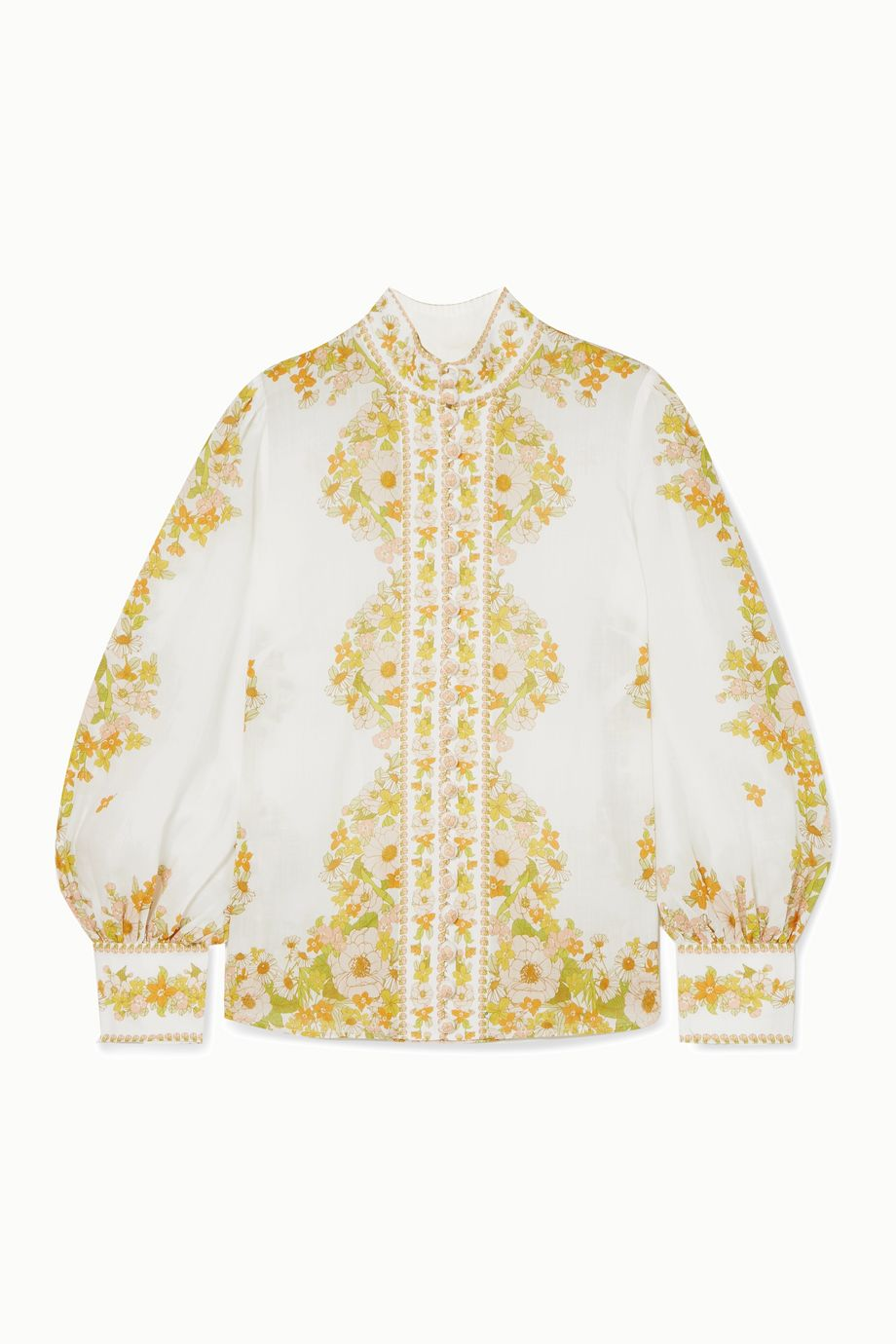 Zimmermann Super Eight floral-print ramie blouse