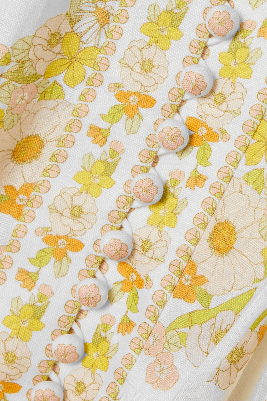 Zimmermann Super Eight belted floral-print linen maxi dress