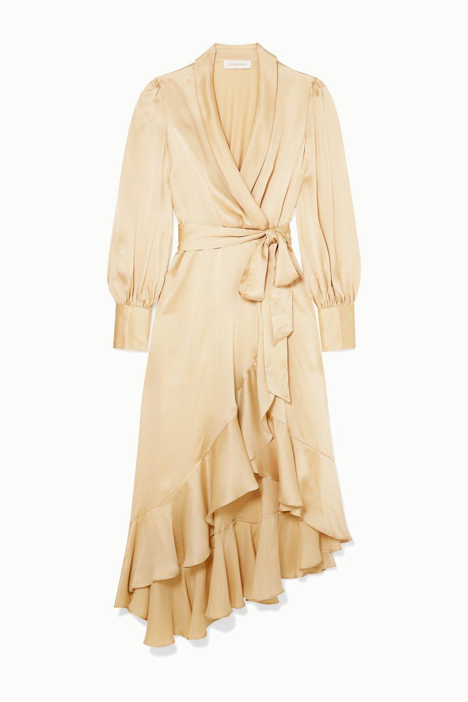 Zimmermann Super Eight ruffled silk wrap midi dress