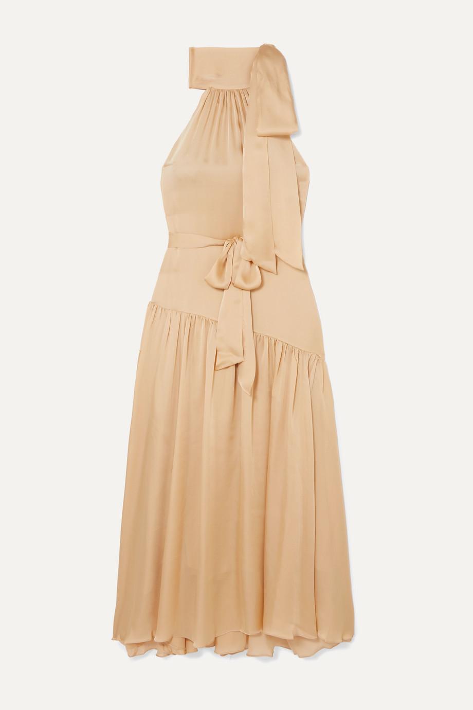 Zimmermann Super Eight tiered silk halterneck maxi dress