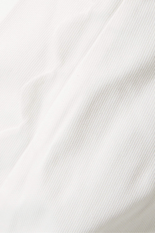 Zimmermann Short en piqué de coton à festons et à plis Super Eight