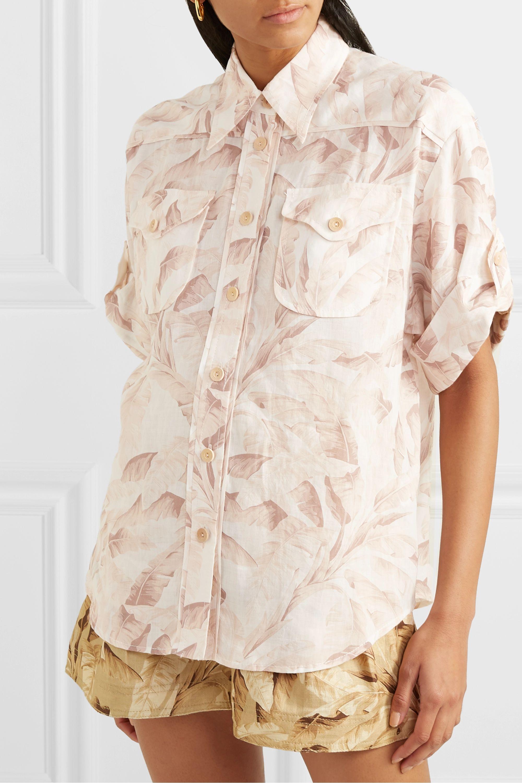Zimmermann Super Eight Hemd aus bedruckter Ramie