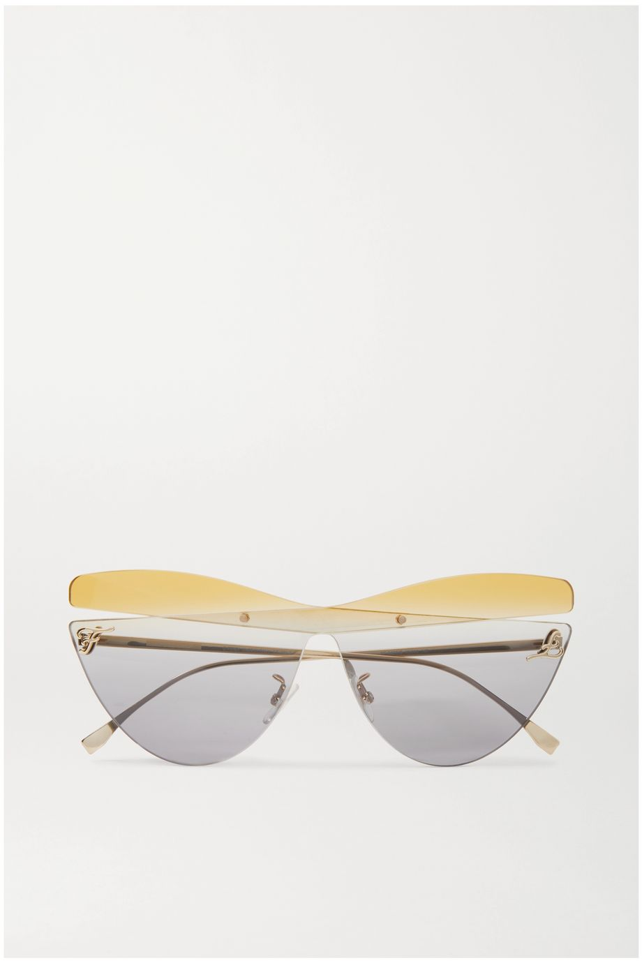 Fendi Cat-eye gold-tone sunglasses