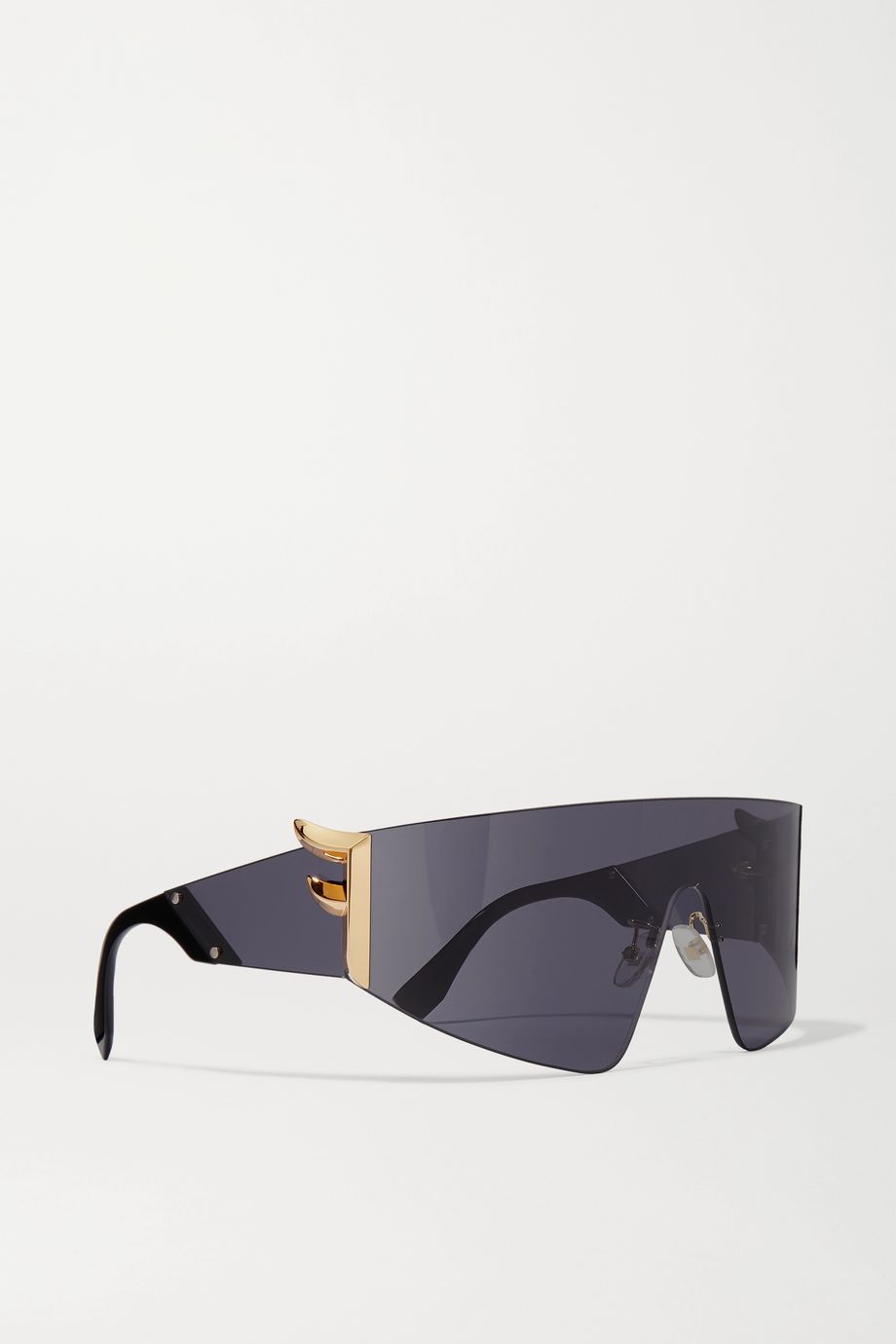 Fendi Oversized D-frame metal sunglasses