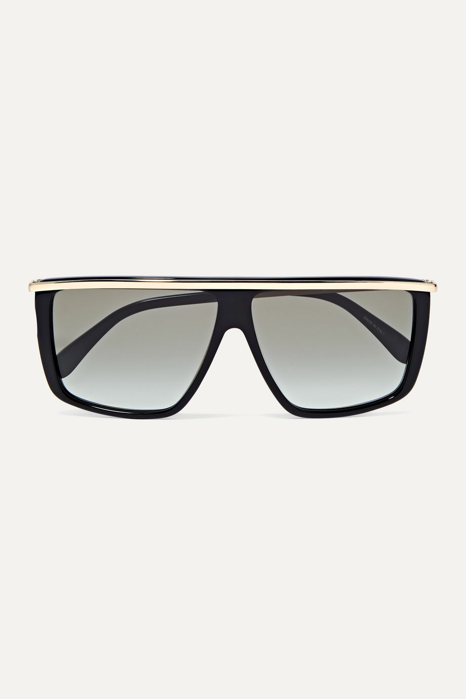 Givenchy D-frame gold-tone and acetate sunglasses