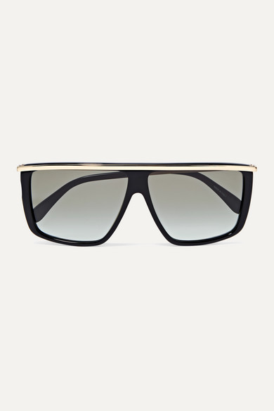 Givenchy Sunglasses D-frame gold-tone and acetate sunglasses