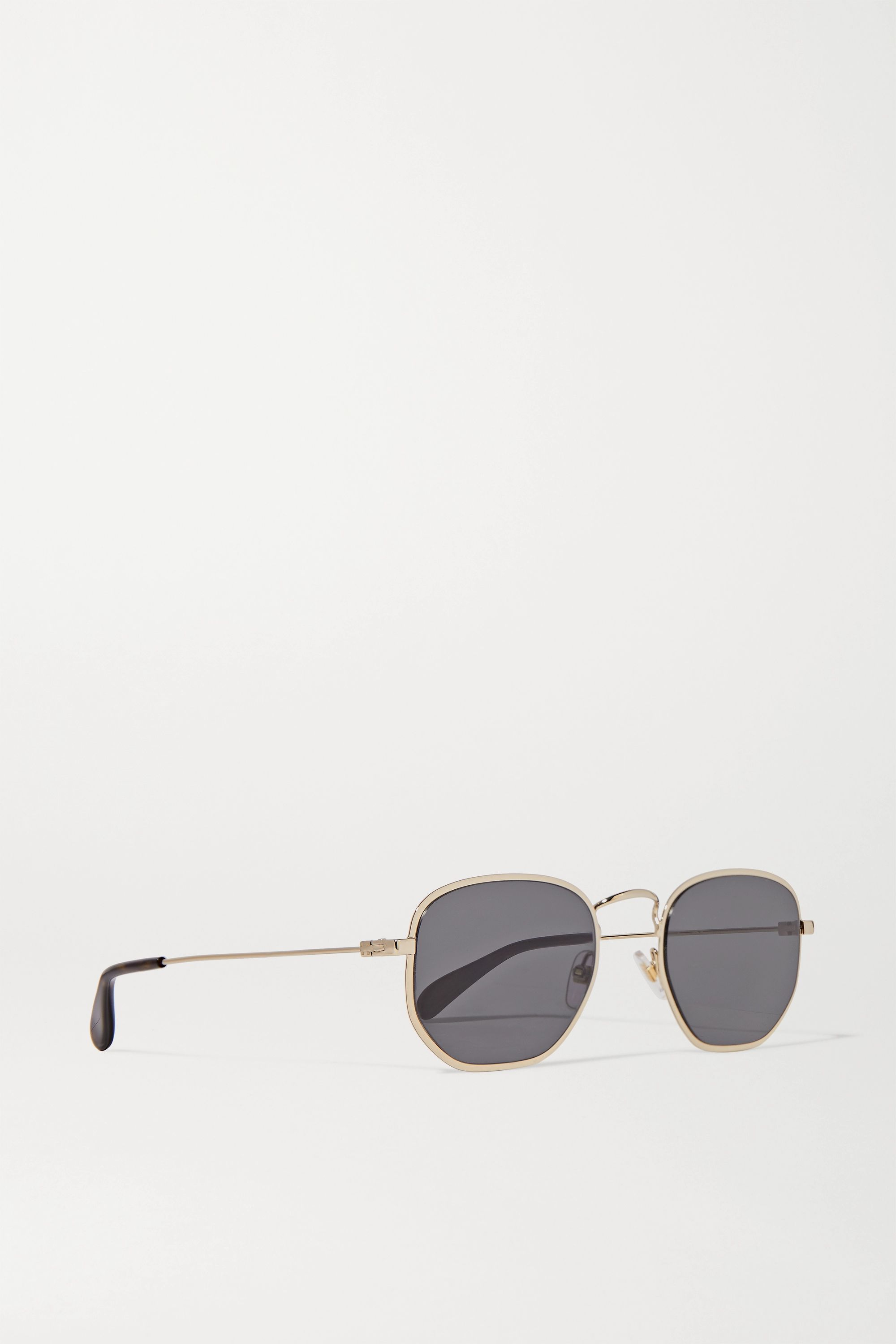 Givenchy Square-frame gold-tone and tortoiseshell acetate sunglasses