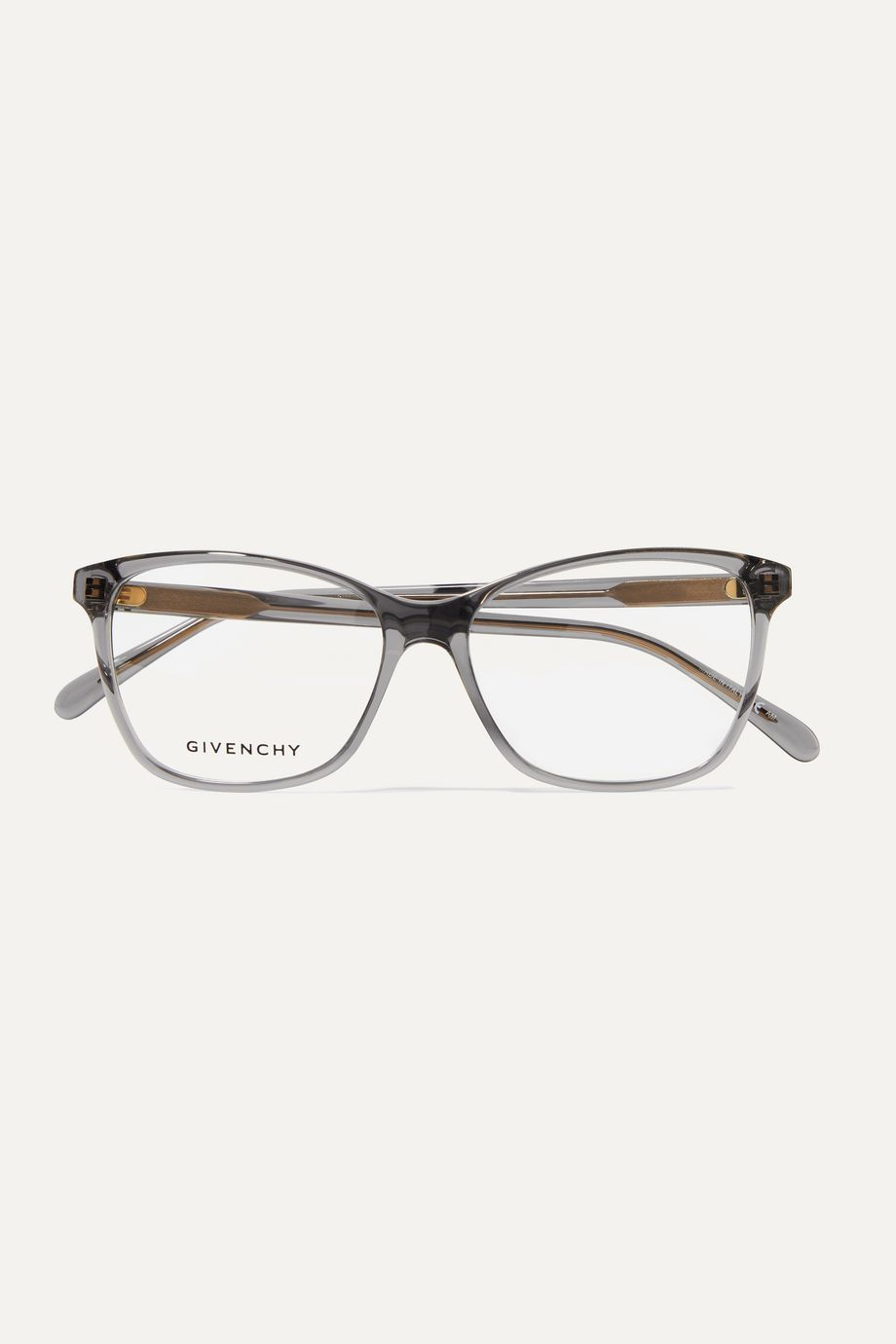 Givenchy D-frame acetate and gold-tone optical glasses