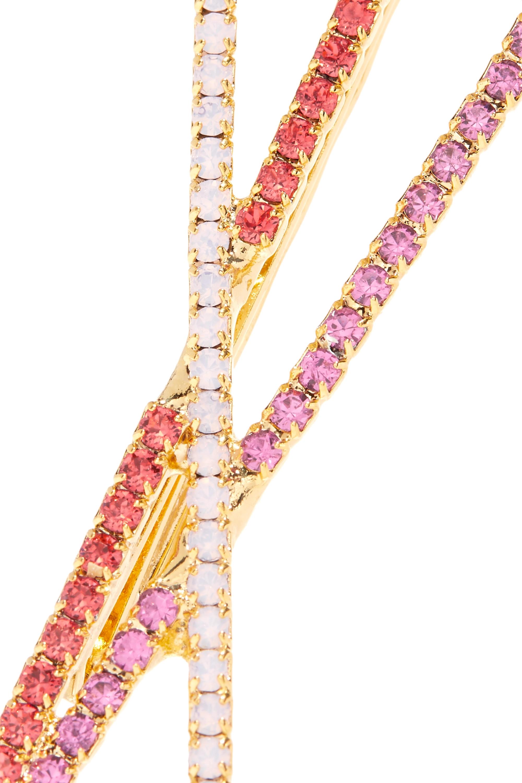 LELET NY Set aus zwei goldfarbenen Haarspangen mit Kristallen
