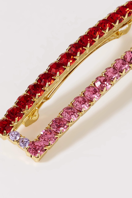 LELET NY Gold-plated crystal hair clip